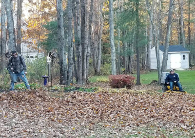 Fall Yard Clean Up in Maine