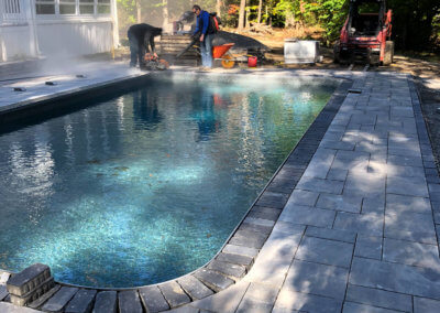 Patio Installation Around In-ground Pool
