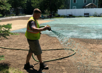 Lawn installation in Maine