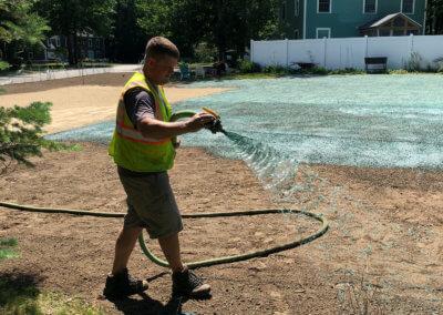 Lawn installation in Maine
